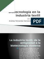 Biotecnología en La Industria Textil