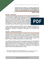 CXG PRINCIPIOS Y DIRECTRICES PARA EL INTERCAMBIO DE INFORMACIÓN EN SITUACIONES DE EMERGENCIA RELACIONADAS CON LA INOCUIDAD DE LOS ALIMENTOS CAC/GL 19-1995_019s