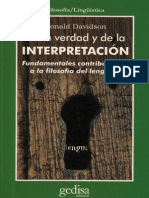 Donald Davidson - De La Verdad y de La Interpretación.