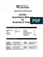 EC7091 Module Outine 2014-15