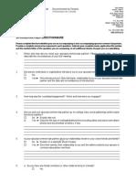 Spouse Questionnaire 2012