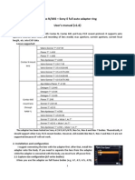 Fringer adapter users manual