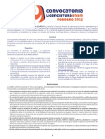 Convocatoria ingreso UNAM