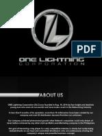 ONE LIGHTNING  Presentation
