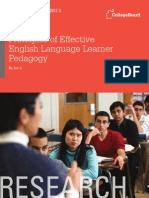 Effective English Language Learner Pedagogy