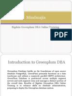 Bigdata Greenplum DBA Online Training