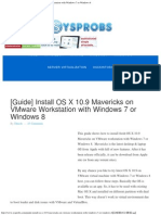 OS X 10.9 Mavericks onWindows 7