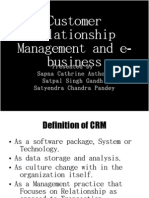 CRM and E- Business