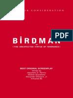 Birdman Mini Script Book
