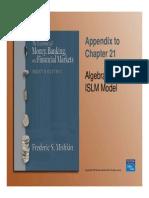 Algebra for ISLM Model