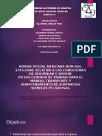 Norma Oficial Mexicana Nom-005-Stps-1998, Relativa a Las