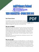 Year 6 Newsletter Spring 2015