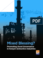 Mixed Blessing? Promoting Good Governance in Kenya's Extractive Industries