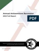 Annual Antisemitism Barometer Report