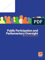 Public Participation and Parliamentary Oversight Legal Reforms and Policy Options