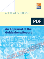 All that glitters? An Appraisal of the Goldenberg Report
