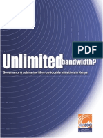 Unlimited Bandwidth - Governance and Submar ine Fibre Opt ic Cable Ini t iat ives in Kenya