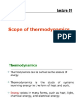 scope of thermodynamics