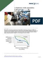 2014 07 Nrel Bolsters Batteries Nanotubes