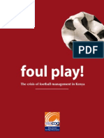 Foul Play! The Crisis of Football Management in Kenya