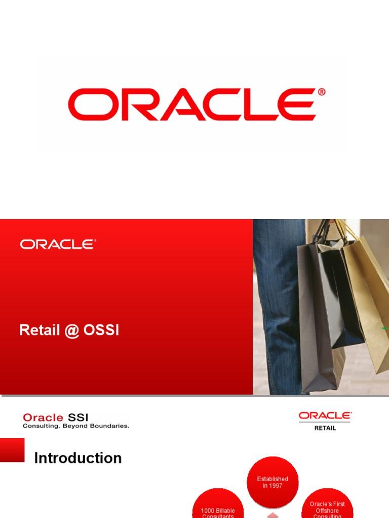 Retail SSI pptx | Oracle Corporation | Enterprise Resource