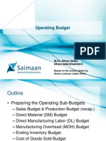 L3 - Operating Budget