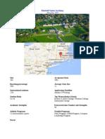 Kimball Union Academy Information Page