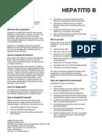 Hepatitis B Fact Sheet (June 2014)
