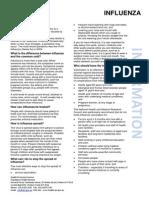 Influenza (Flu) Information Sheet (May 2014)