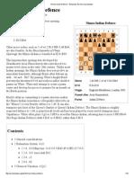 Nimzo-Indian Defence - Wikipedia, The Free Encyclopedia