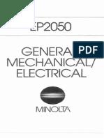Minolta Copier CSPRO-2050 EP-2050 Parts and Service Manual