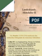 Landeskunde. Mittelalter II