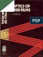 Knittel Optics Of Thin Films Text