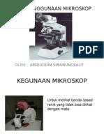 Cara Penggunaan Mikroskop