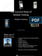 The Current State of Mobile Testing by