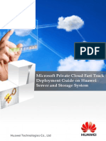 Microsoft Private Cloud Fast Track Deployment Guide on Huawei Server and Storage System