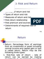 Return & Risk