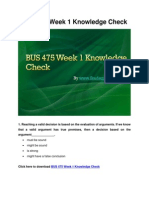 BUS 475 Week 1 Knowledge Check