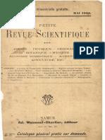 Petite Revue Scientifique - Mai 1908