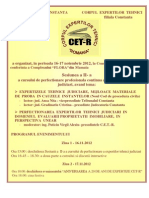 Buletin Documentar Aniversar Expertiza Tehnica Nr.122 -Decembrie 2012