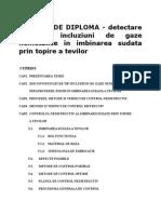 PROIECT de DIPLOMA - Detectare Fisurilor, Incluziuni de Gaze Nemetalice in Imbinarea Sudata Prin Topire a Tevilor