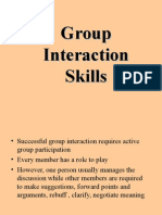 Group Interaction Skill
