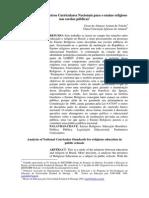 Analise Dos Parametros Curriculares Nacionais Para o Ensino Religioso Nas Escolas Publicas