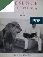 Présence du Cinéma, n. 13, Raoul Walsh