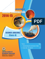 OTBA 2015 Class 9 Science (English Version)