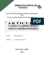 Articulo Etica y Deontologia