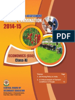 OTBA 2015 for Class 11 for Economics (English Version)