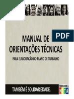 Manual de Orientações Técnicas - Plano de Trabalho