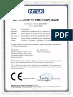 CE Certificate EMC