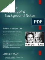 to kill a mockingbird background notes